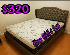 NEW💥QUEEN BED💥PILLOW TOP MATTRESS INCLUDED💥IN STOCK💥💥PICK UP OR DELIVERY💥💥 for Sale in Downey, CA