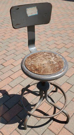 Vintage machine shop garage swivel bar stool. Height adjustable for Sale in Morton Grove, IL