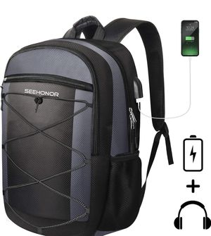 Laptop Backpack with USB Charging Port, 15.6 Inch Slim Business Computer Backpack for Men Women Water Resistant Anti Theft College Bookbag School Bag for Sale in Piscataway, NJ