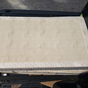 Twin size Mattress, bed spring and medal frame for Sale in Willow Grove, PA