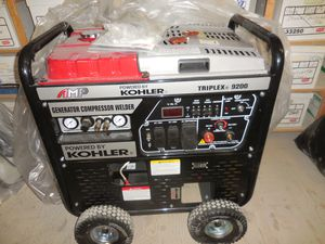 KOHLER AMP TRIPLEX 9200 3-IN-1 INDUSTRIAL GENERATOR WELDER AIR COMPRESSOR - AZ PRICE IS $6,500. MESSAGE FOR SHIPPING QUOTE The AMP® TRIPLEX® 9200RS is for Sale in Phoenix, AZ