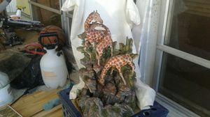 Giraffe fountain, comes with pumps etc . Never have put together. for Sale in Fort Lauderdale, FL