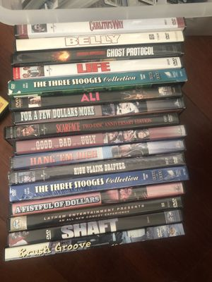 DVD player with remote and over 40 different collection of movies for Sale in Atlanta, GA