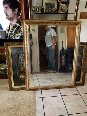 Very large gold frame Mirror for Sale in Sebring, FL