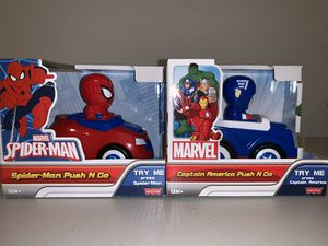 Spider-Man & Captain America Cars (Marvel) for Sale in Orlando, FL