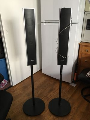 Black small speaker. Part of a home theater. Sound good next to. Home subwoofer. ( small speaker only for sale nothing more ) for Sale in Daly City, CA