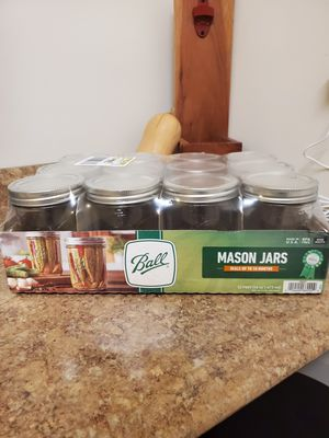 Ball Wide Mouth 16oz Mason Jars (Pack of 16) for Sale in Carnegie, PA