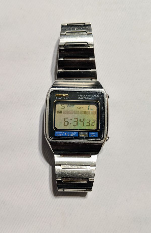 Vintage Seiko Moonraker James Bond Watch M354-5019 Memory Bank Calendar