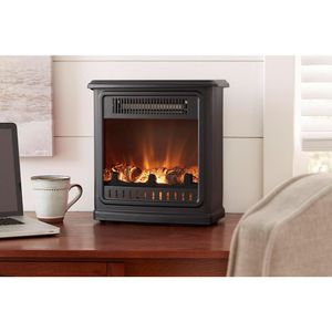 Crestland 13 in. Desktop Electric Fireplace in Black for Sale in Columbus, OH