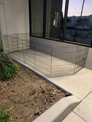 """New in box 30"""" tall x 24"""" wide each panel x 8 panels steel wire exercise playpen 16 feet long fence safety gate dog cage crate kennel for Sale in South El Monte, CA"""