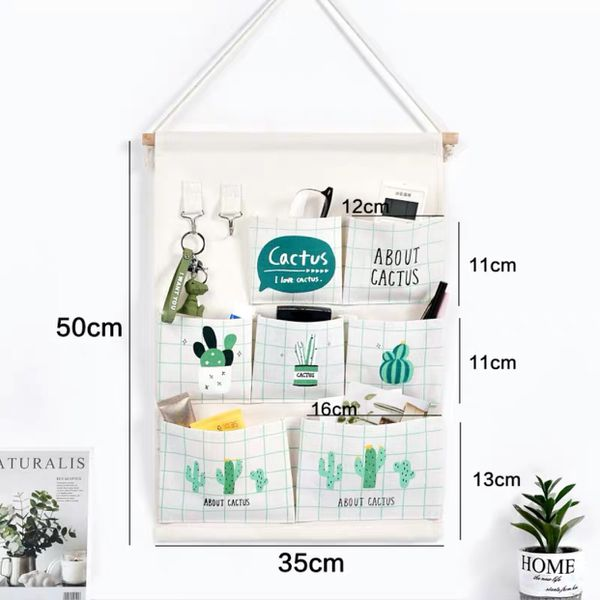 Over The Door Closet Organizer,Wall Hanging Storage Bags with 7 Pockets for Bedroom & student dormitory & living room