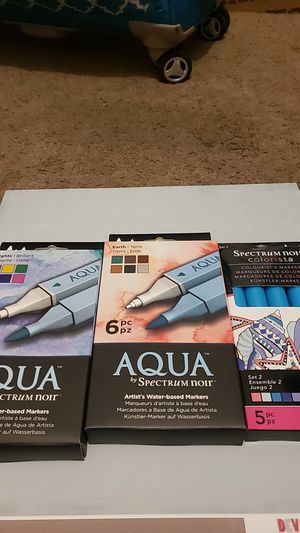 Spectrum noir aqua markers never used for Sale in San Diego, CA