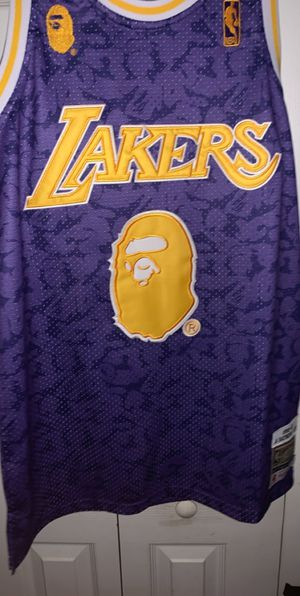 Bape x Mitchell & Ness Lakers Camo Jersey for Sale in Orlando, FL