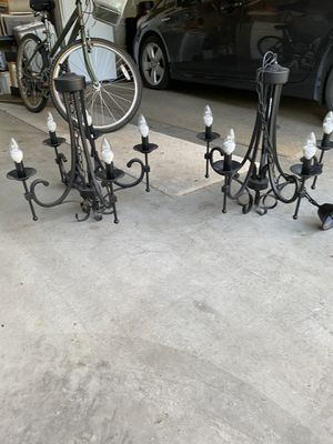 Pair of Black chandelier for Sale in Puyallup, WA