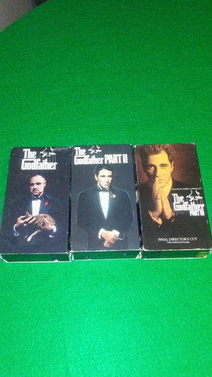 Godfather VHS Trilogy set for Sale in Cleveland, OH