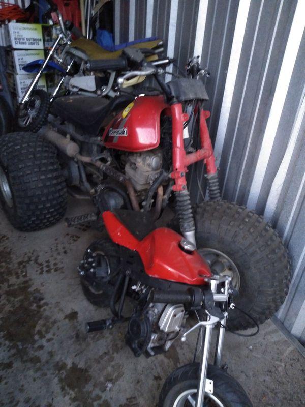 ATV 3 wheeler and small gas bikes