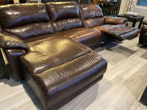 Leather sofa with chaise and love seat for Sale in Buckeye, AZ