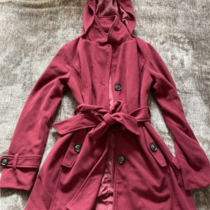 Burgundy Peacoat for Sale in Squaw Valley, CA