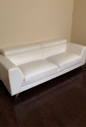 White leather couch for Sale in Fairview, NJ