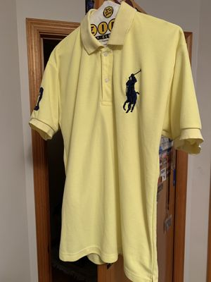 Yellow Ralph Lauren big pony dress shirt size youth xl for Sale in Monrovia, MD