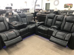 Power recliner power headrest with led light usb and storage sofa and loveseat for Sale in Elgin, IL