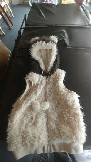 Fur vest with fluffy eared hood for Sale in Pittsburgh, PA