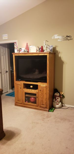 46 Inch Vizio Tv works very well. Also All wooden Cabinet size is 46x64 in length. Very nice if intrested please pm me for Sale in Moberly, MO