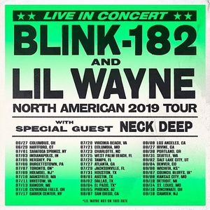 Blink-182 and Lil Wayne ticks for September 4th. 7pm Pepsi center. Section 222 row 2 seat 3 and 4 paid $120 each. Asking $200 for both for Sale in Colorado Springs, CO