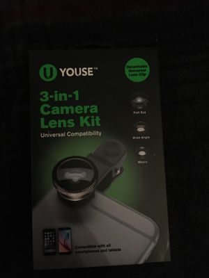 3-in-1 Camera Lens Kit( for any phone) for Sale in CT, US