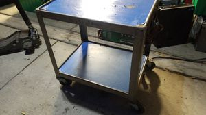 Rolling cart with electrical outlets & locking wheels for Sale in Tracy, CA