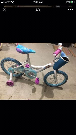 """Huffy® Disney® """"Frozen"""" 16-Inch Bicycle with Handlebar Bag for Sale in Rancho Santa Fe, CA"""
