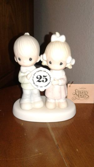 Precious Moments Happy 25th Anniversary Figurine for Sale in Cypress, TX