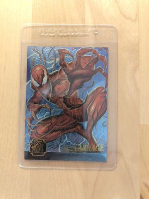 Marvel vintage carnage limited edition collectible card for Sale in Los Angeles, CA