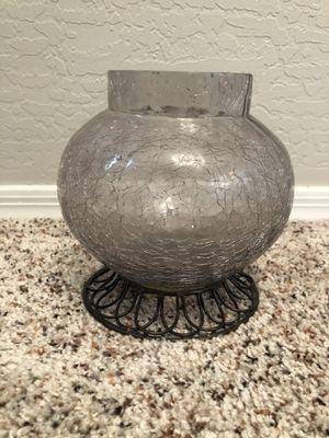 7 inch crackled Jar glass vase for Sale in Gilbert, AZ