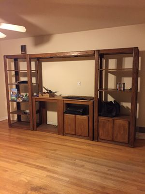 Entertainment Center (solid oak) for Sale in San Jacinto, CA