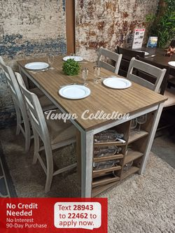 New 5pc Counter Height Dining Set with Wine Rack, SKU# ASHD394-32TC for Sale in Norwalk,  CA