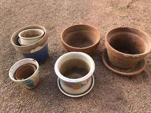 14 ceramic flower pots, various sizes for Sale in Chandler, AZ