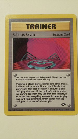 POKEMON TRAINER CHAOS GYM 102/132 for Sale in Las Vegas, NV