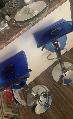 Two blue bar stools for Sale in Vancouver, WA