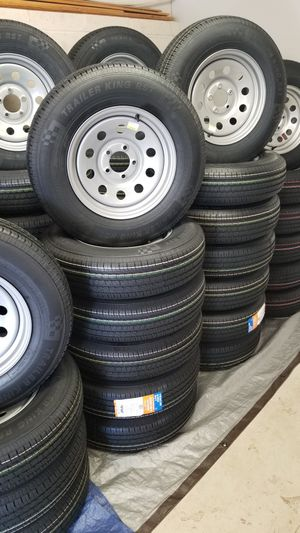 TRAILER TIRES AND WHEELS STARTING AT $60+ TAX AND UP TIRE/RIM ASSEMBLY ( SEE BELOW) for Sale in Douglasville, GA
