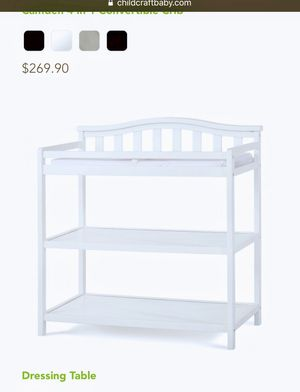 Brand new never opened before dressing table and changing table cost $269 asking for $60 thanks for Sale in Rockville, MD