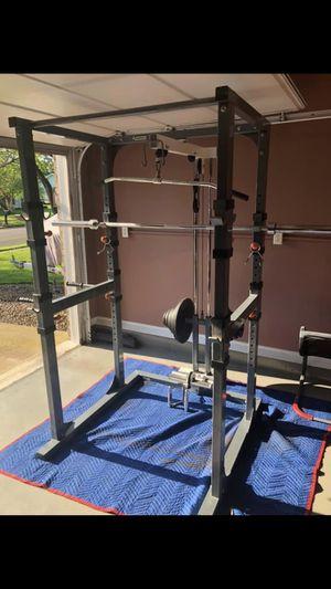 Keys fitness hoist bench 300lb high end squat rack bench weight set for Sale in Saint Charles, MO