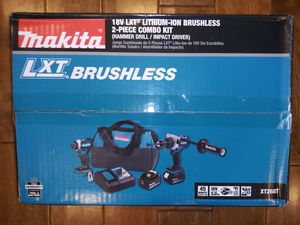 MAKITA 18-Volt LXT Lithium-ion Brushless Cordless 2-piece Combo Kit (Hammer Drill/ Impact Driver) 5.0Ah for Sale in Montrose, CA