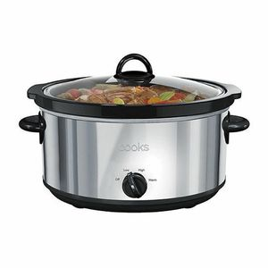 NEW Cooks 6-Qt. Stainless Steel Stoneware Slow Cooker Crock-Pot JC Penny Boxed for Sale in Billings, MT