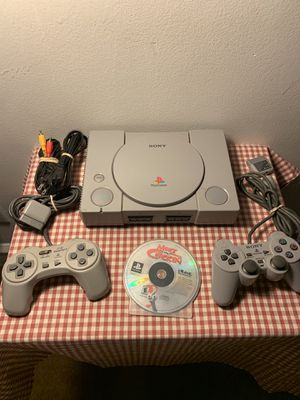PlayStation 1 PS1 Sony console with two controllers and game for Sale in Conshohocken, PA