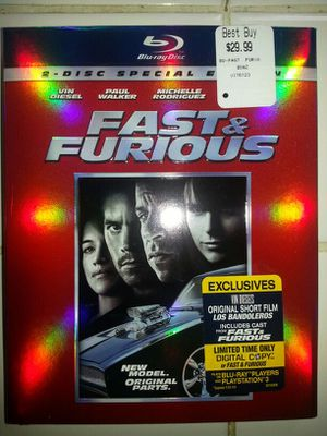 Fast & Furious Blu-Ray/DVD for Sale in Tacoma, WA