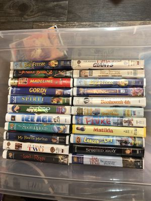 52 kids VHS movies for Sale in Fort Worth, TX