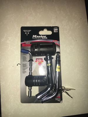 Master Lock locking hitch pin and coupler lock for Sale in St. Louis, MO