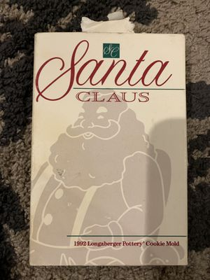 Santa Claus longaberger cookie mold for Sale in Escondido, CA