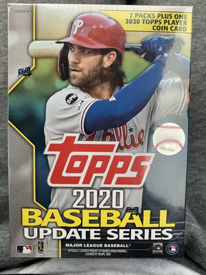 TOPPS baseball blaster boxes 99 cards per box (comes with 1 coin card) for Sale in Portland, OR